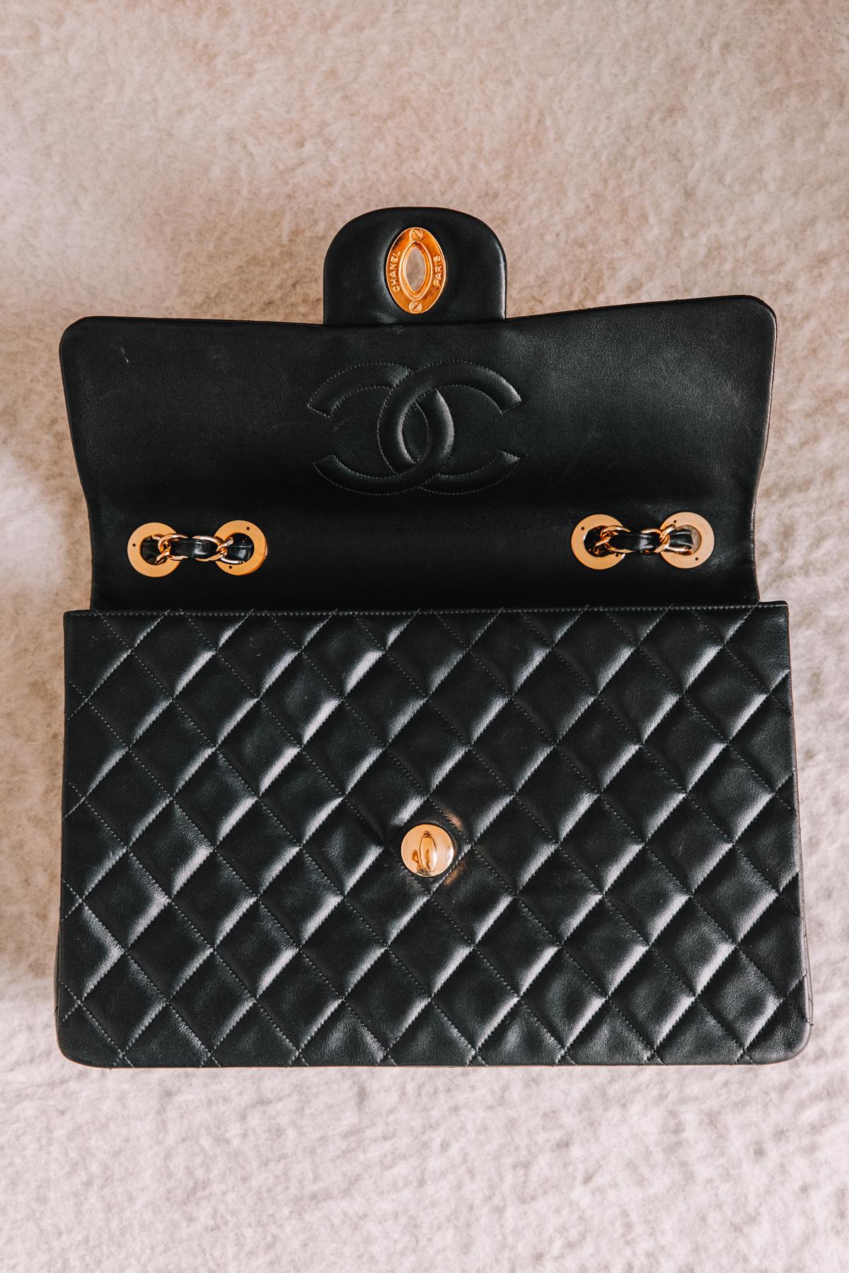 Fashion Jackson CHANEL Lambskin Quilted XL Jumbo Single Flap Black