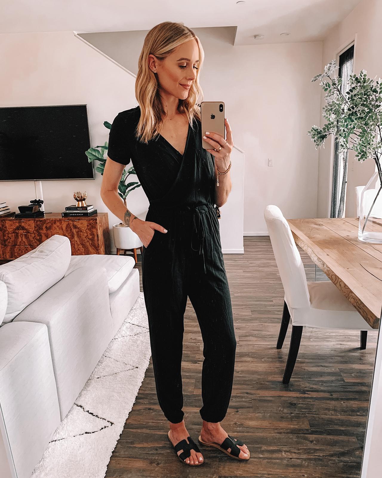 Fashion Jackson Wearing Amazon Fashion Black Jumpsuit