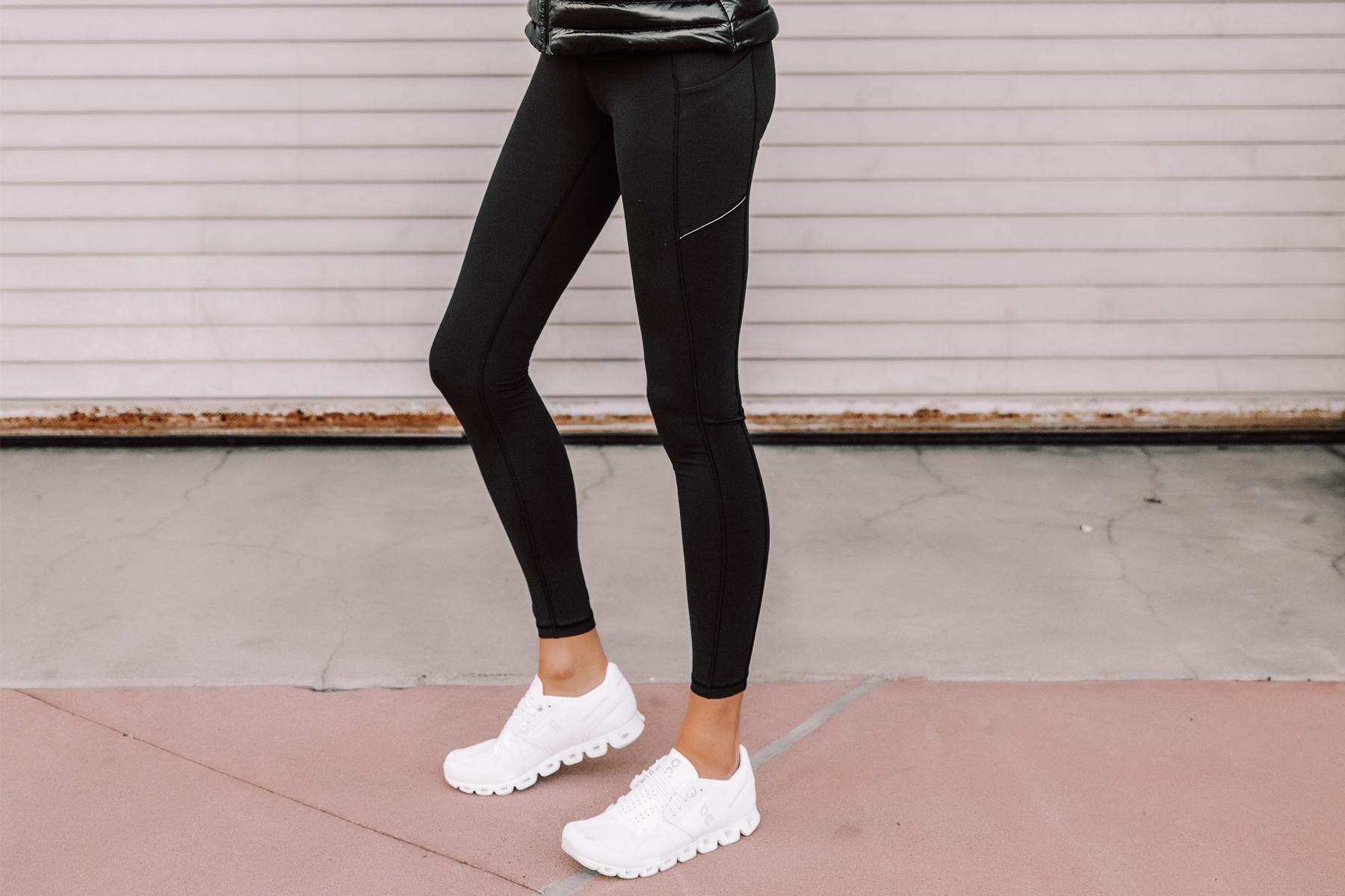Fashion Jackson Wearing lululemon Speed Up Leggings Black