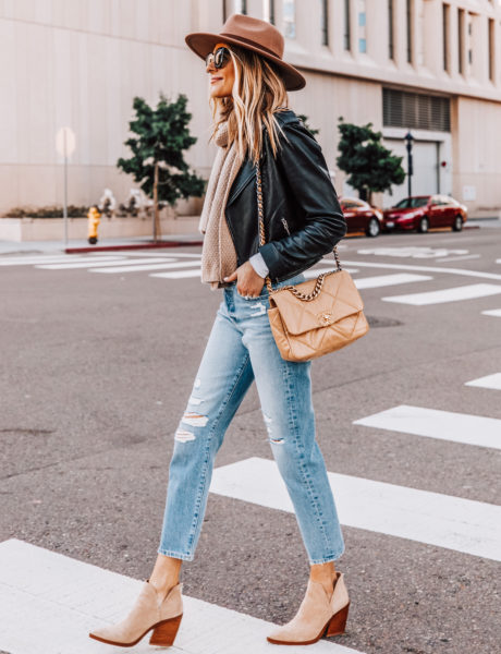 How to Style a Black Leather Jacket For a Cold Winter Weekend