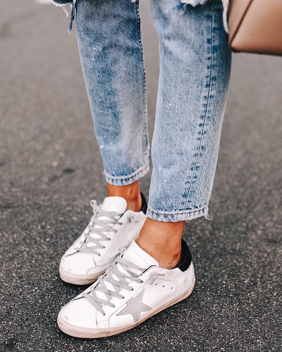 Fashion Jackson Wearing Golden Goose Sneakers