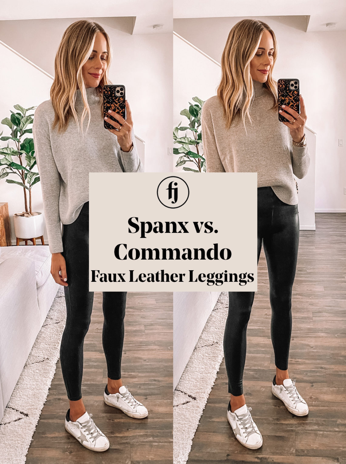 Spanx vs Commando Faux Leather Leggings