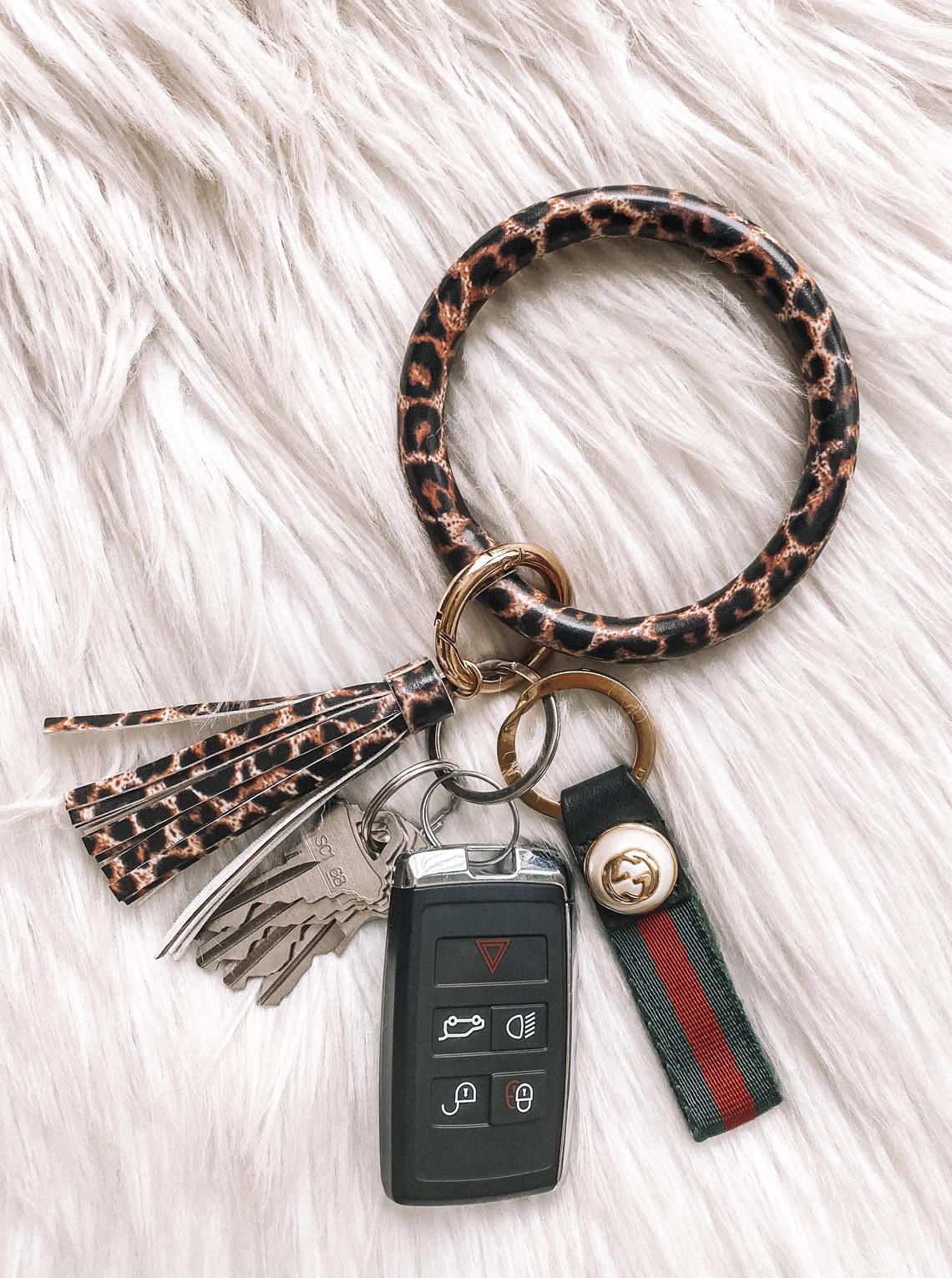 leopard key ring bracelet