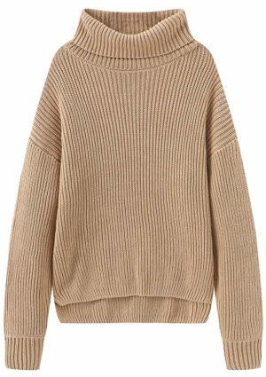 Fancy Stitch Women's Turtleneck Regular Fit Rib Knitted Sweater