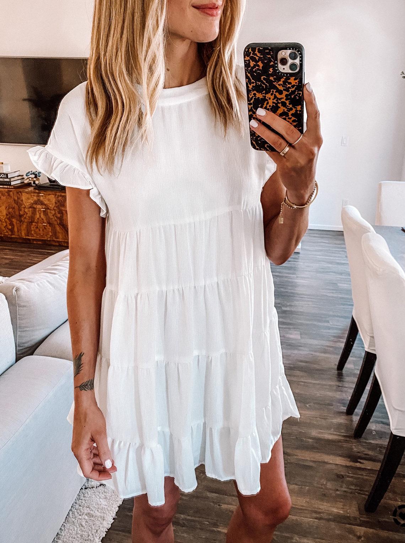Fashion Jackson Wearing Amazon Fashion Little White Ruffle Dress