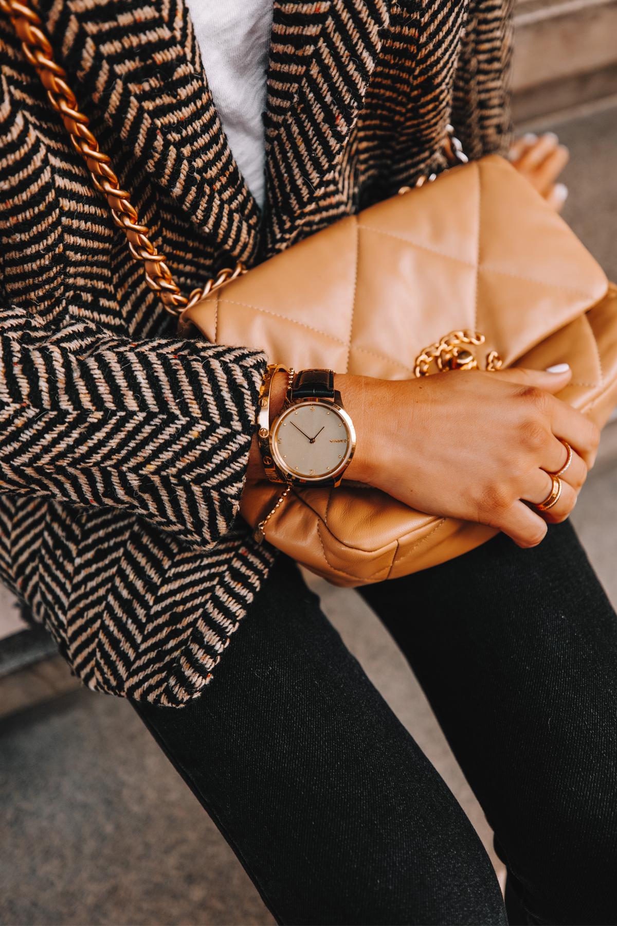 Fashion Jackson Wearing Garmin Vivomove Luxe Smartwatch