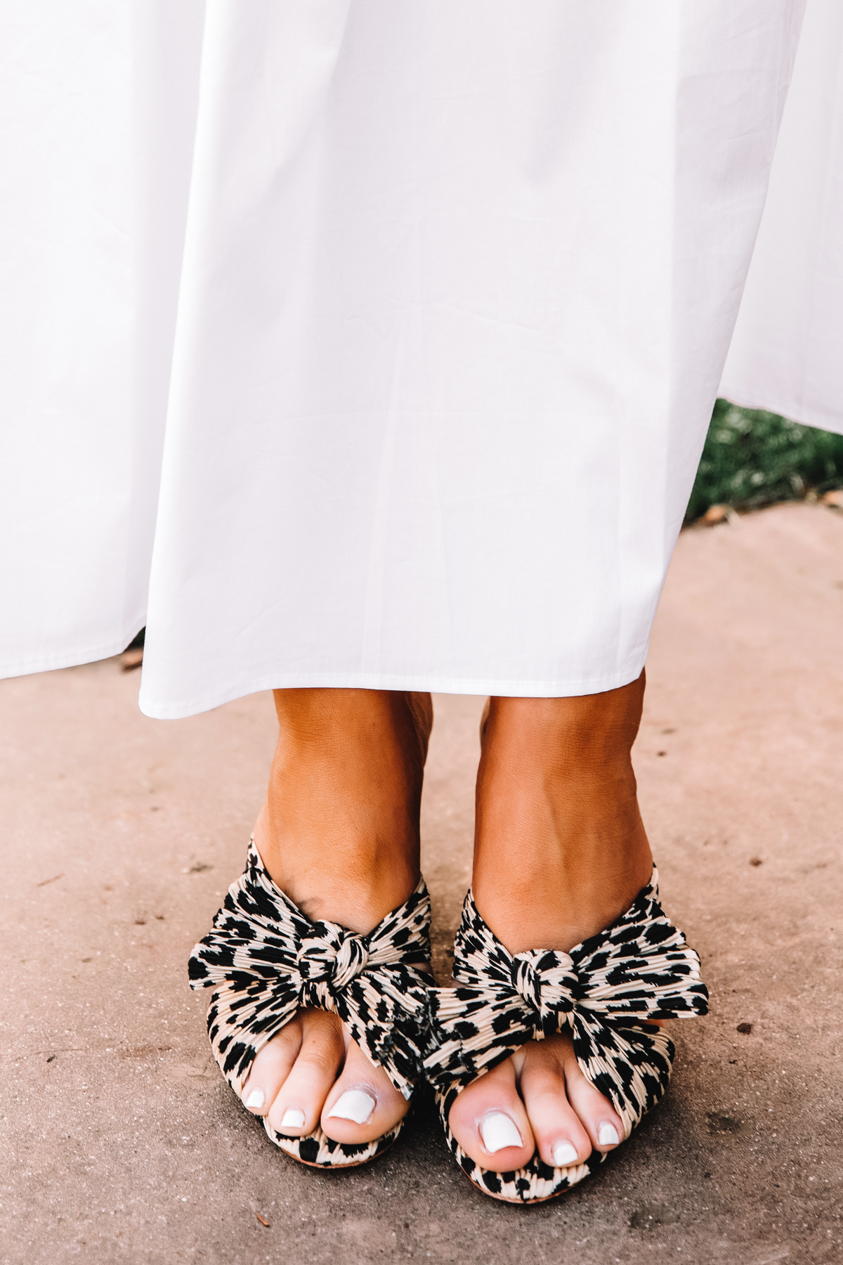 Leopard Penny Knot Mules