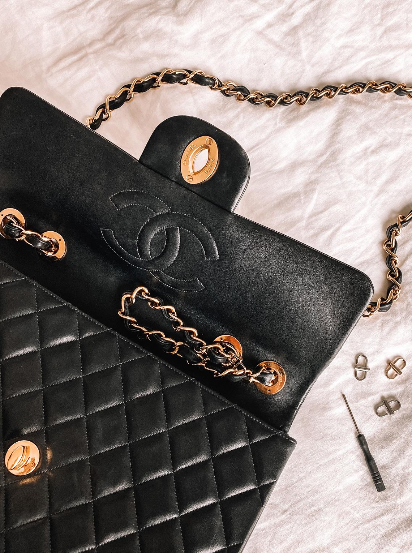 Fashion Jackson Chanel XL Jumbo Handbag with Amazon Chain Shortener