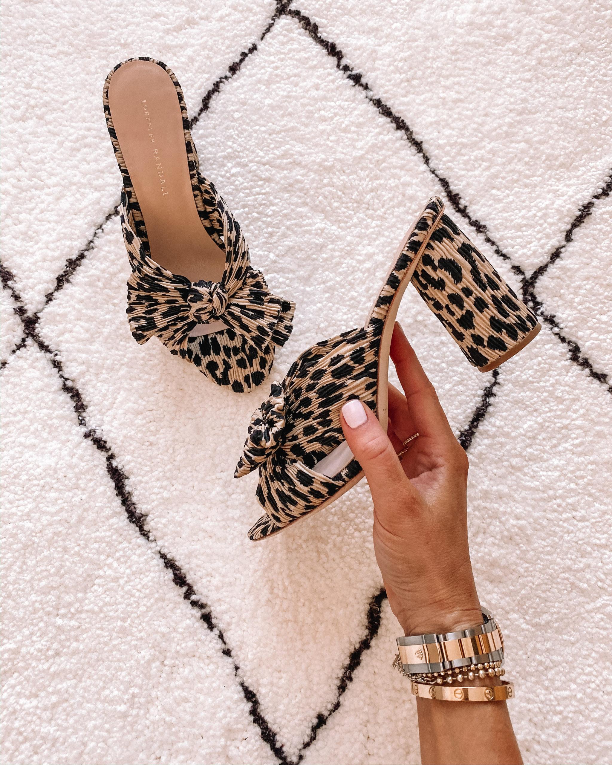 Loeffler Randal Penny Knot Mules Leopard