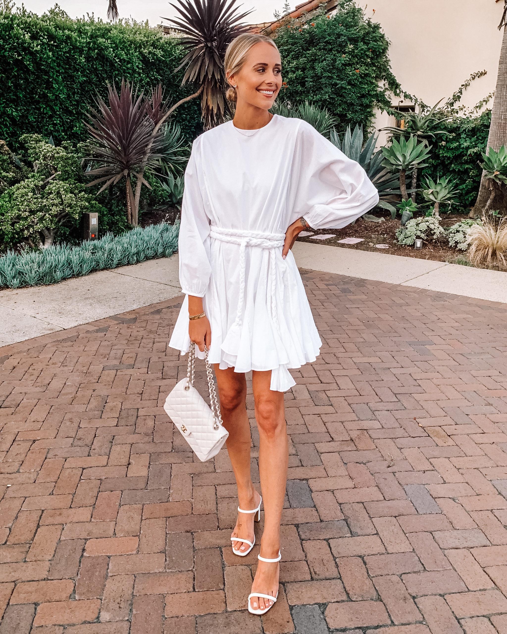 Fashion Jackson Wearing Rhode Ella Dress White