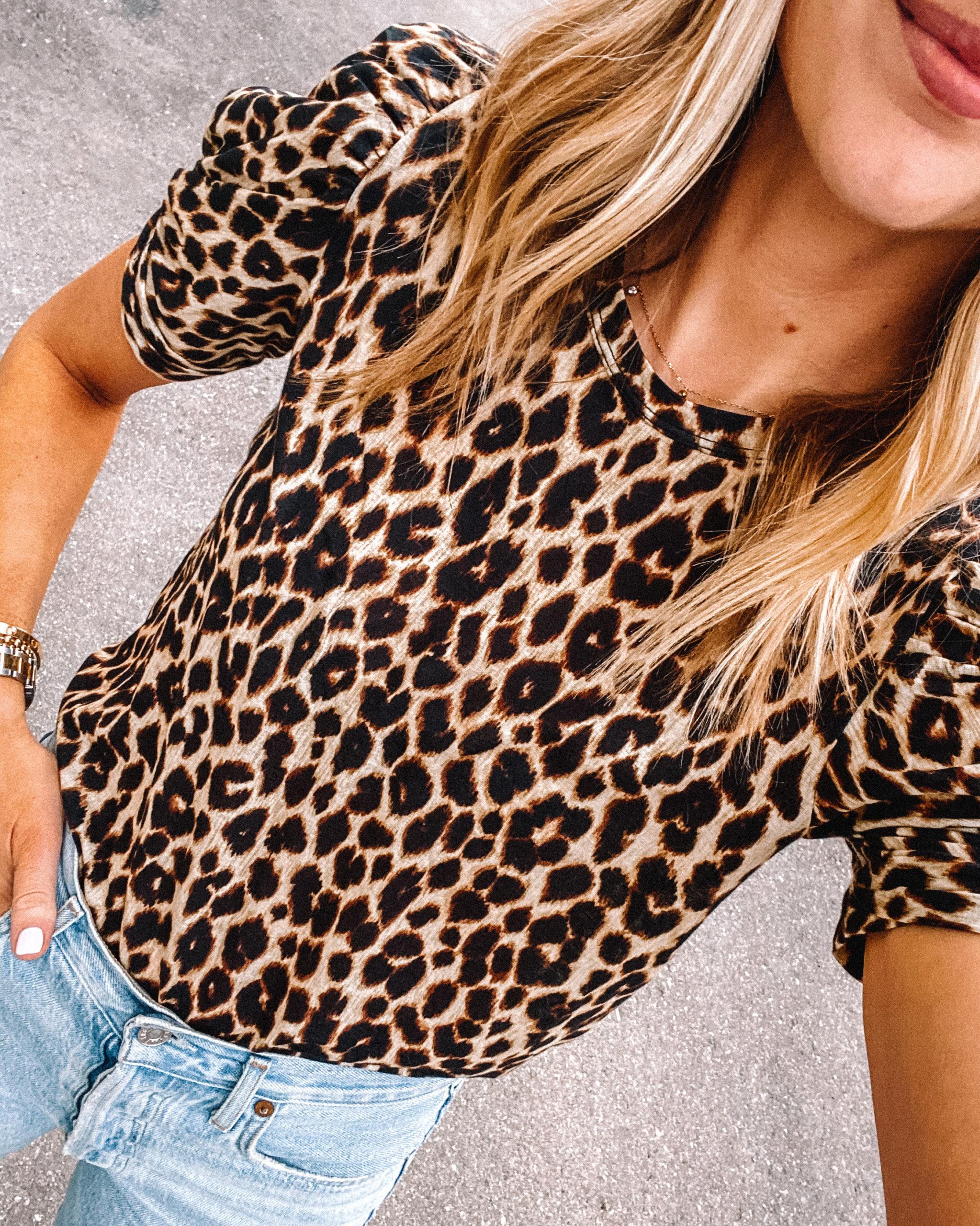 Fashion Jackson Wearing A.L.C. Kati Tee Leopard