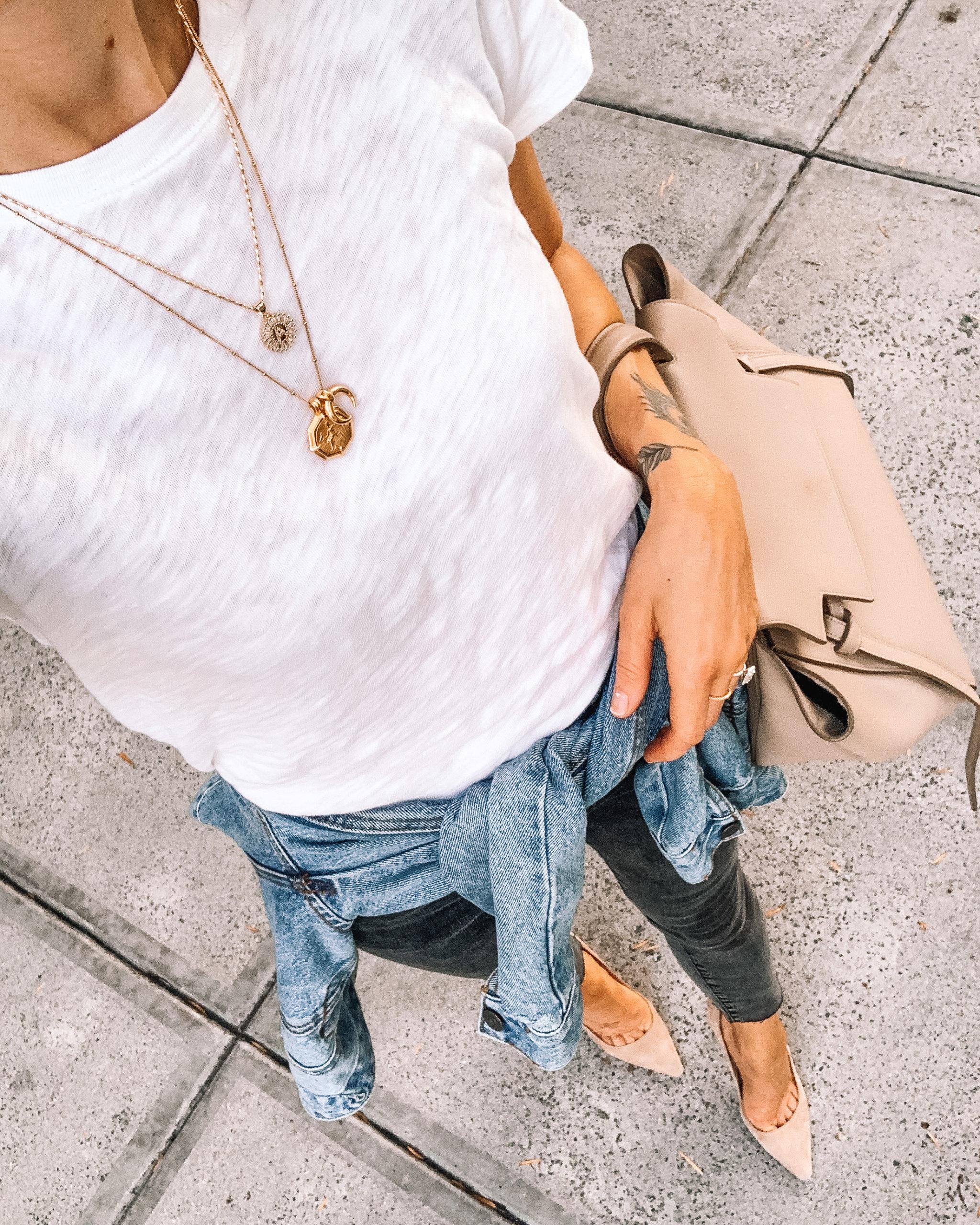 Fashion Jackson Wearing ATM White T-Shirt