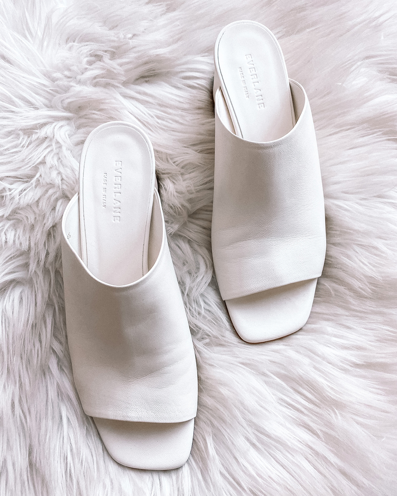 Fashion Jackson Everlane White Heeled Mule Sandals