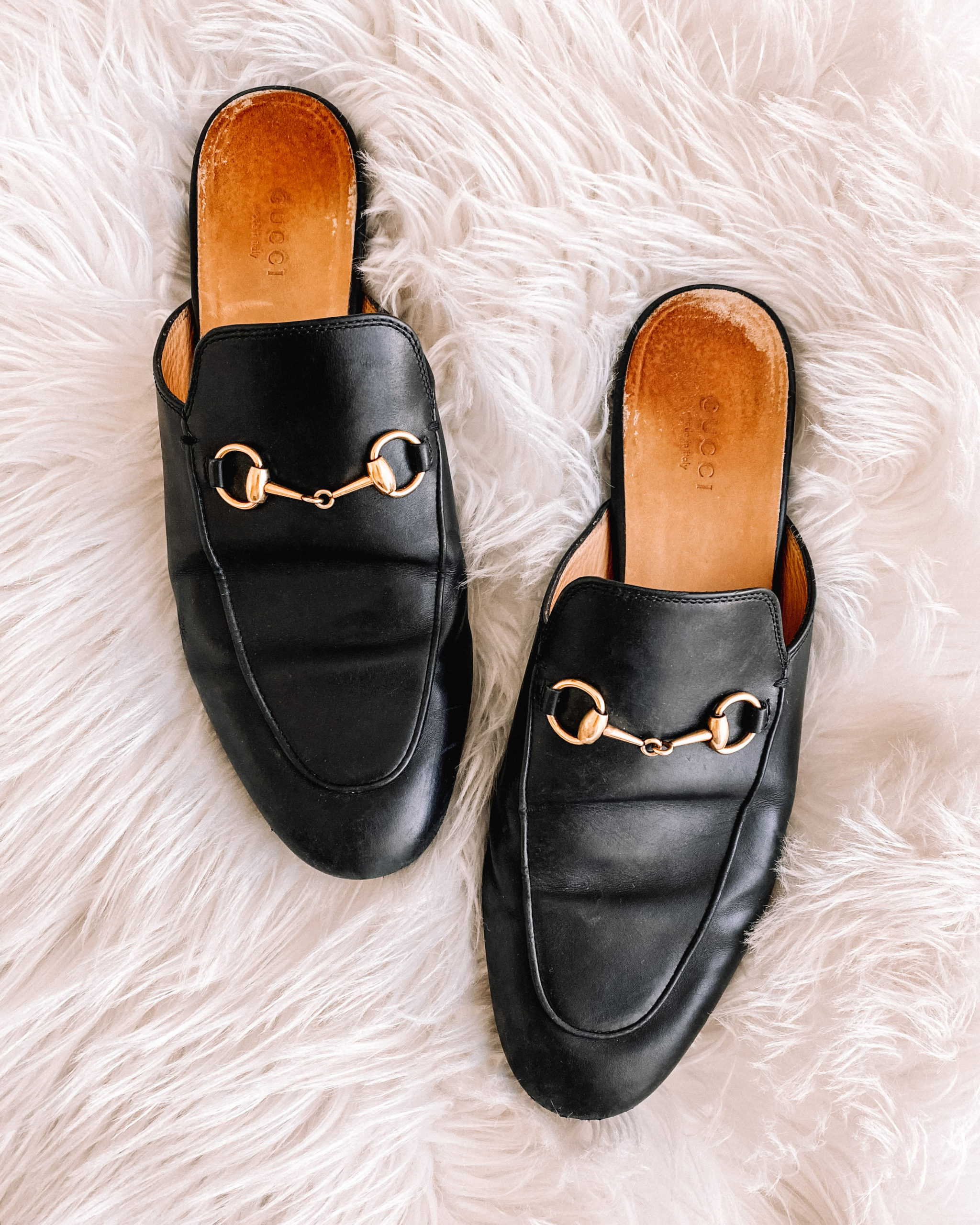 Fashion Jackson Gucci Princetown Mules Black
