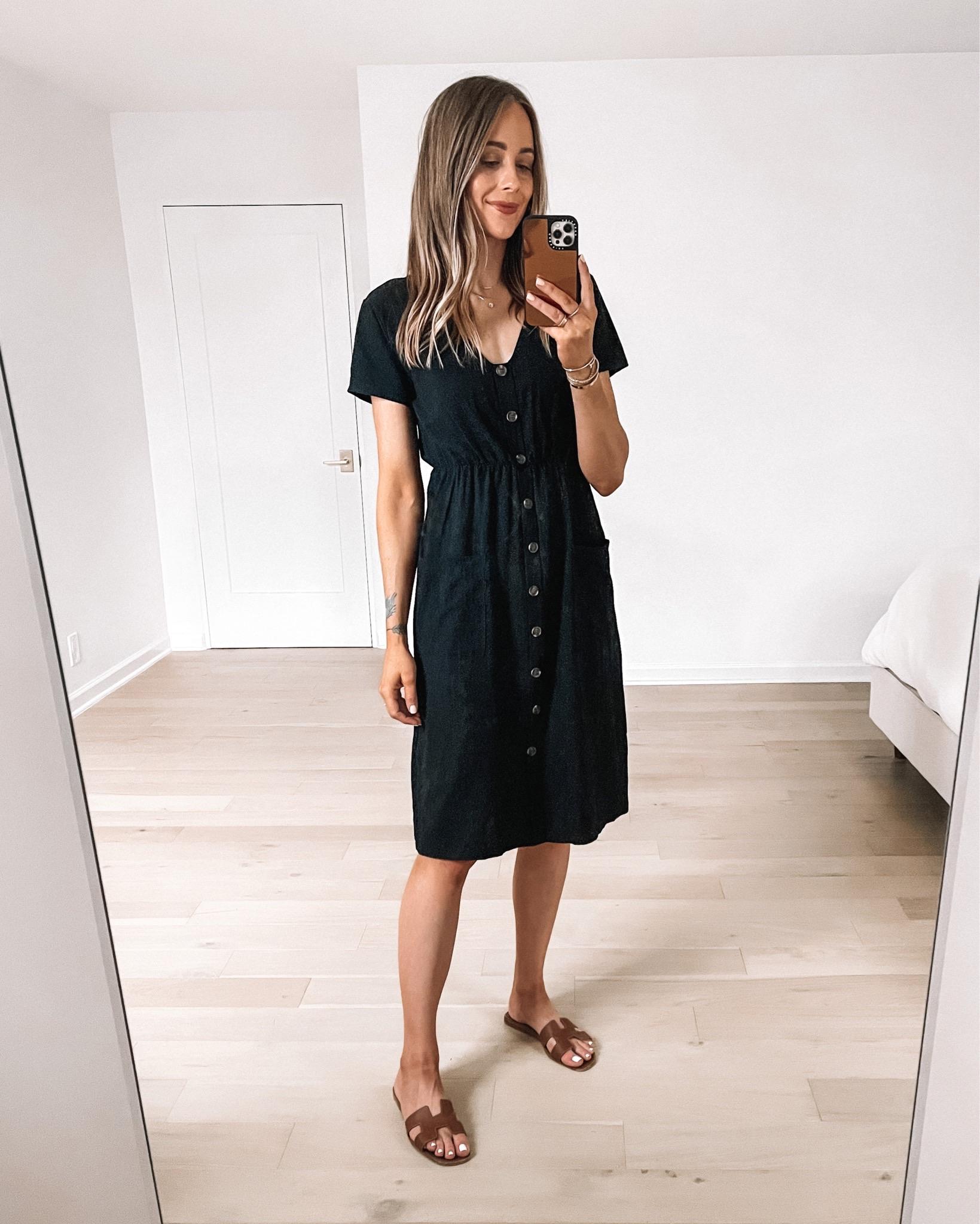 Fashion Jackson Wearing Amazon Fahsion Black Midi Dress
