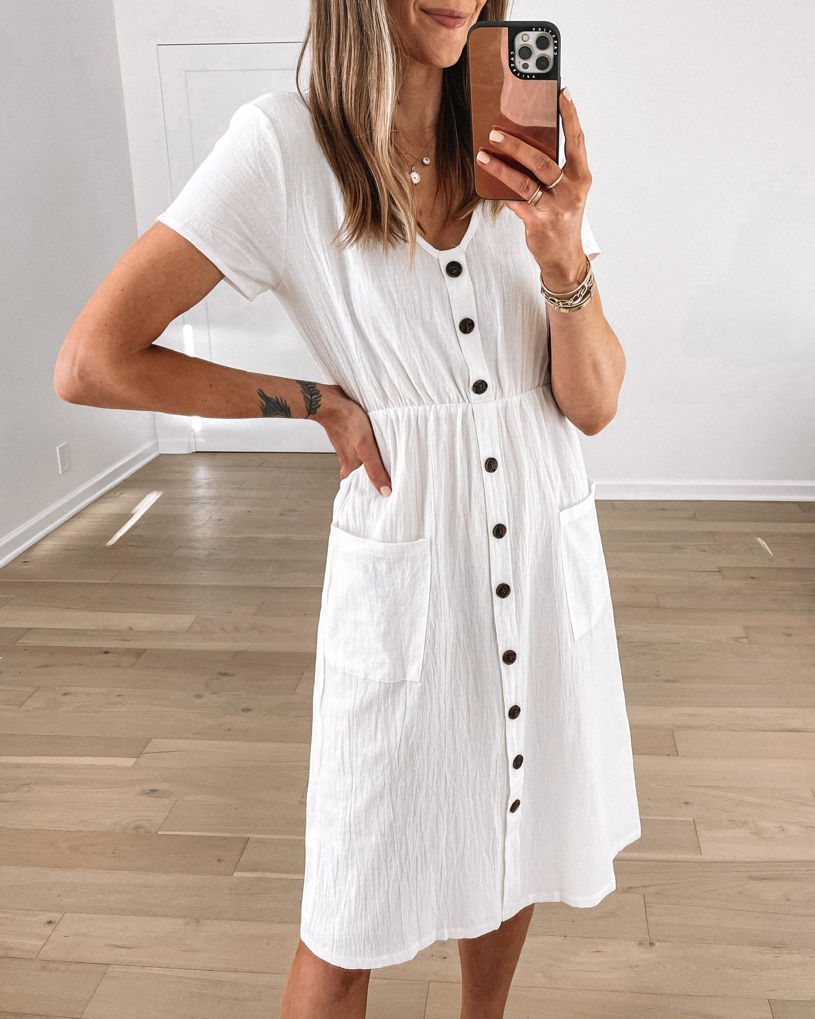 Fashion Jackson Wearing Amazon Fashion White Midi Dress