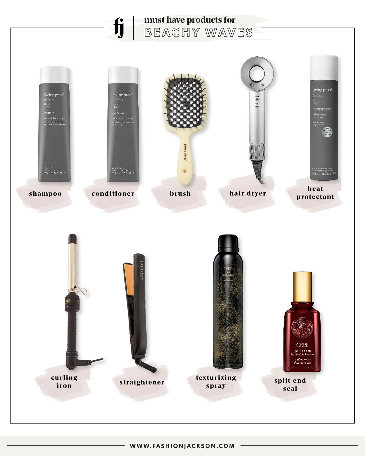 Fashion Jackson beachy waves hair products