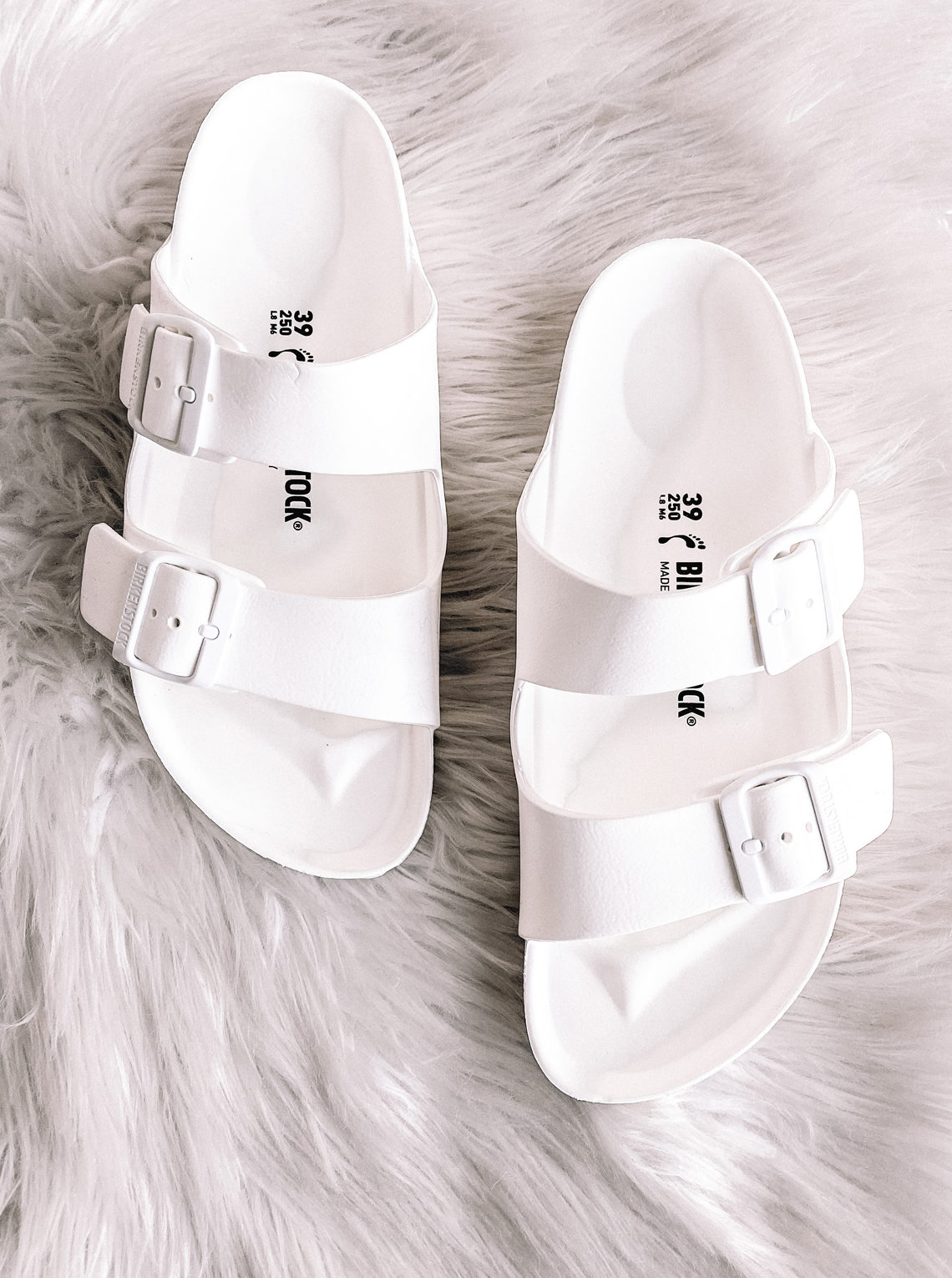 Fashion Jackson White Birkenstock Sandals