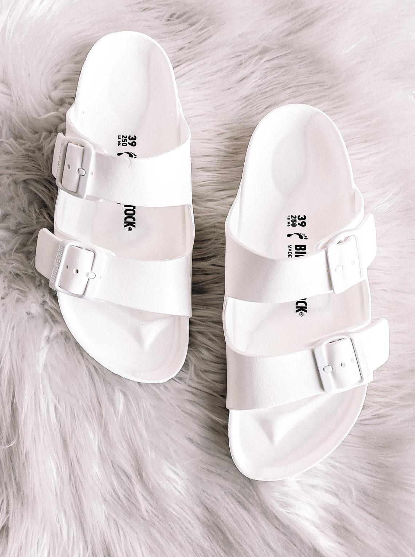 Fashion Jackson White Birkenstock Sandals