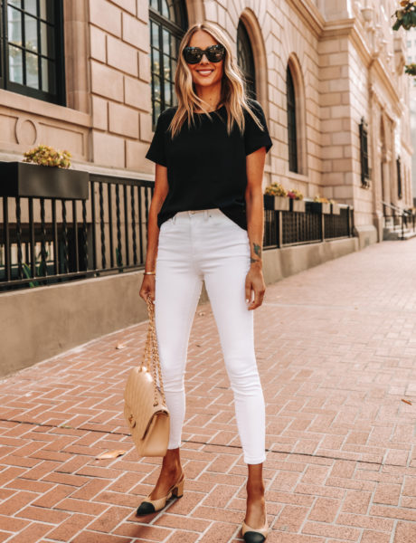 Everlane's Under $75 High Rise Skinny Jeans Are the Best White Jeans For Summer
