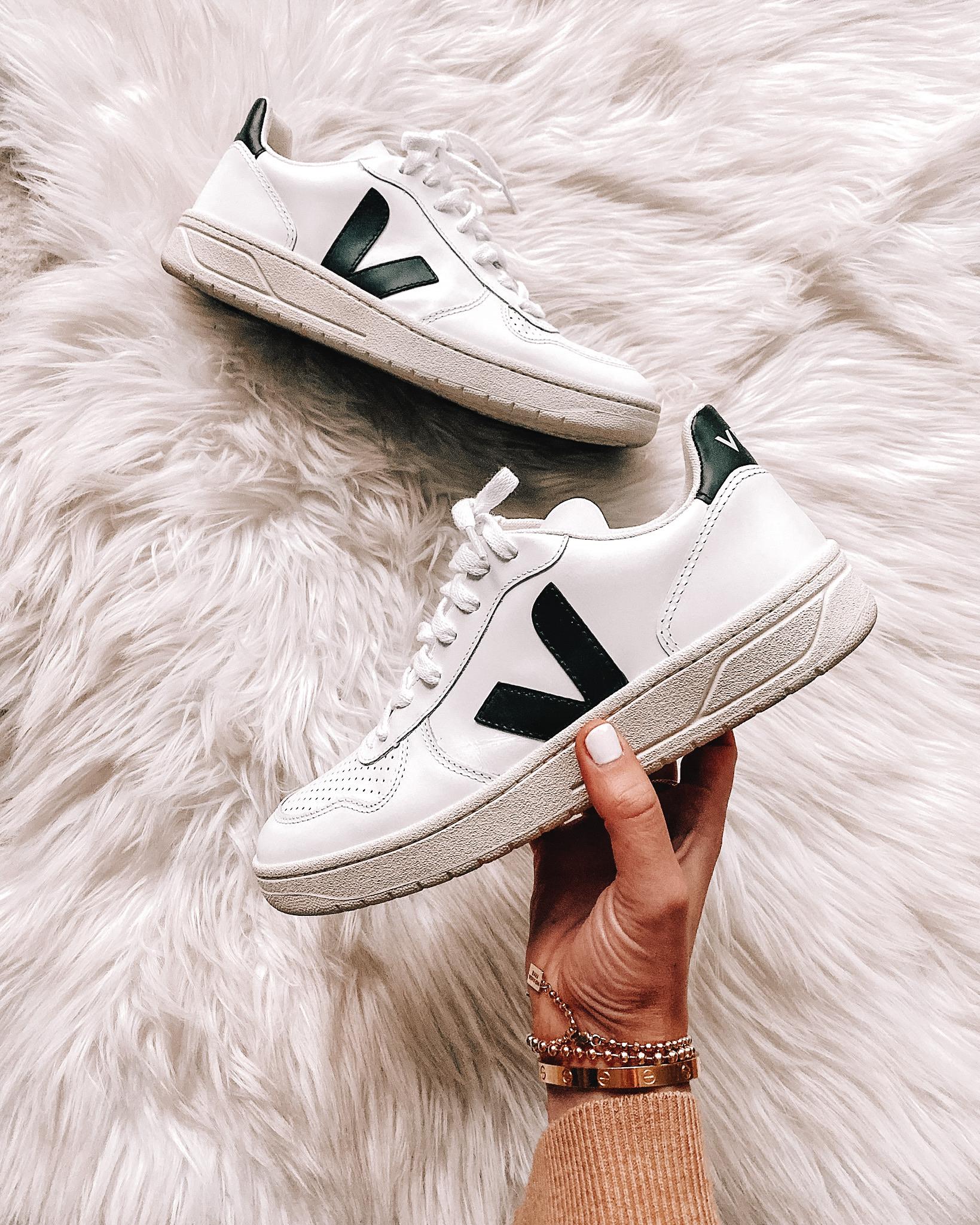 Veja V10 White Black Sneakers