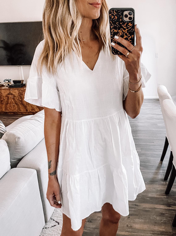 Fashion Jackson Wearing Amazon Summer White Dress