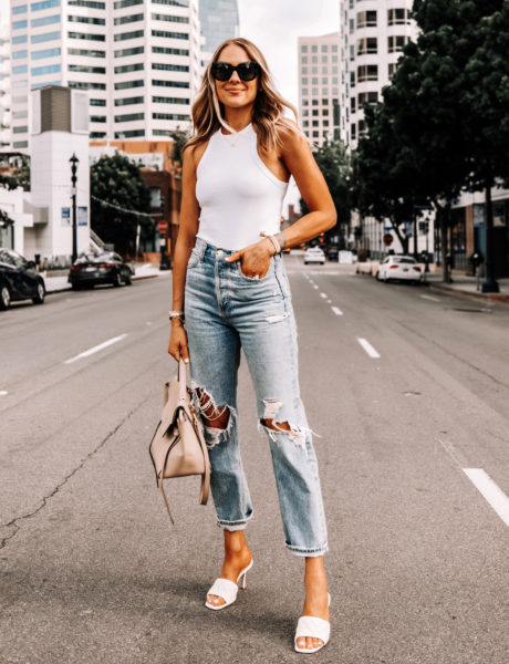 Agolde 90's Mid Rise Loose Fit Boyfriend Jeans Outfit