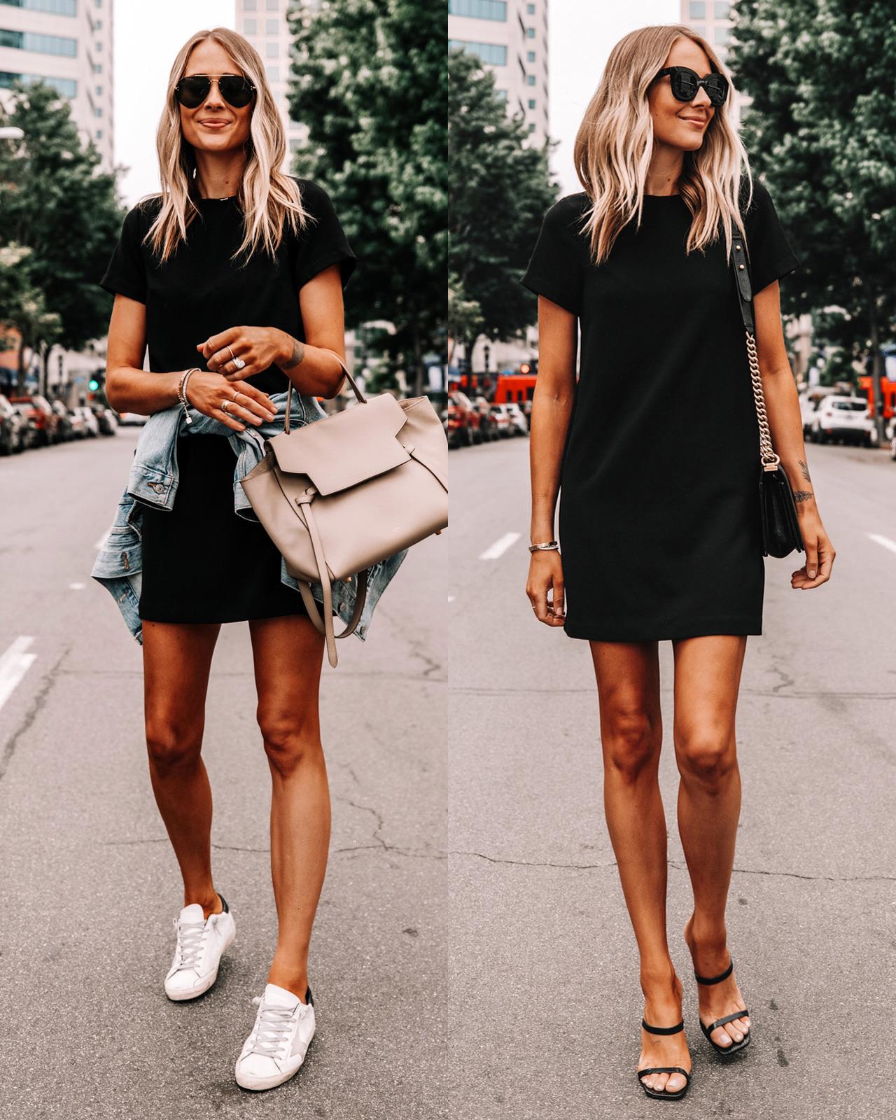 Fashion Jackson Wearing Nordstrom black mini dress