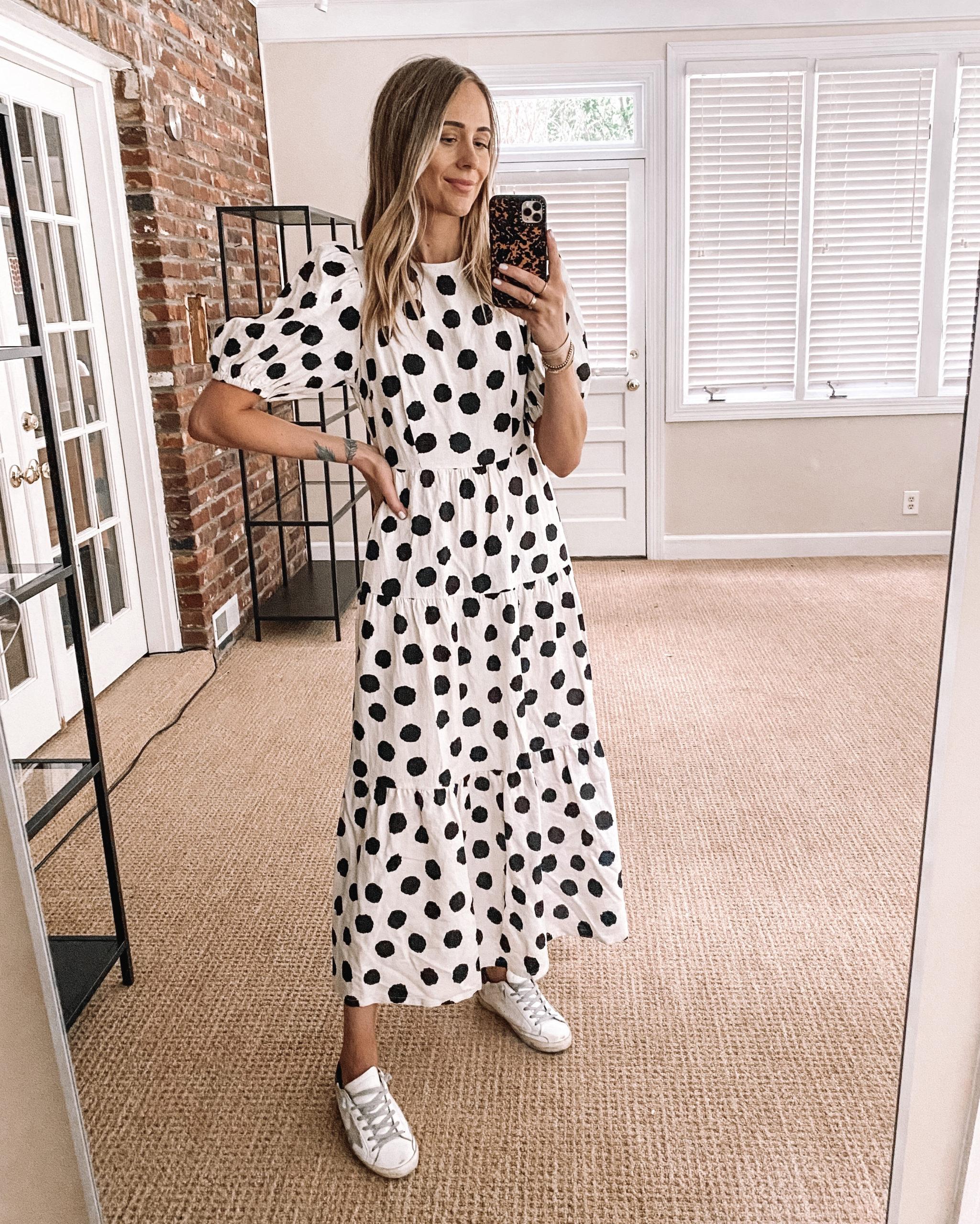 Fashion Jackson Target Finds Who What Wear Black White Polka Dot Maxi Dress