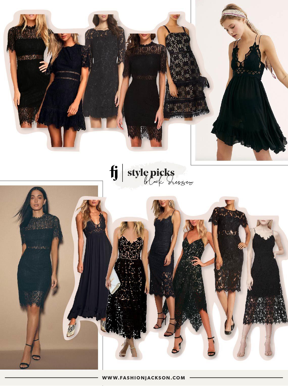 Fashion Jackson Black Lace Dresses