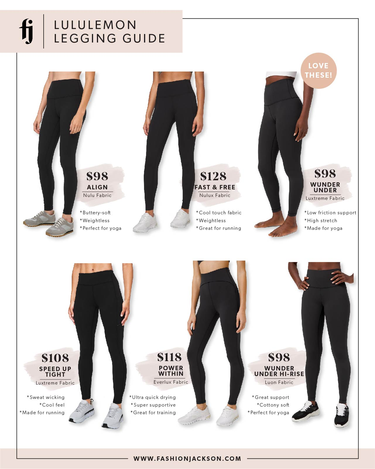 Fashion Jackson lululemon Fabric Guide