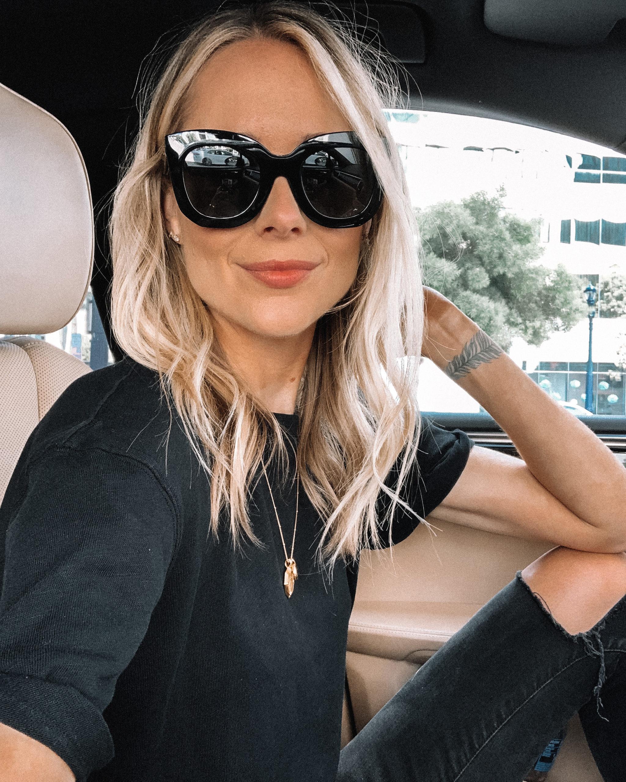 Fashion Jackson Wearing Celine Cat Eye Sunglasses
