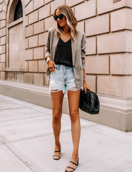 How to Dress Up Abercrombie's Cut-Off Blue Jean Boyfriend Shorts