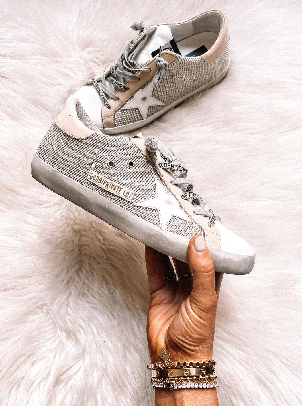 Fashion Jackson Golden Goose Super-Star Private Edition Woven Sneaker