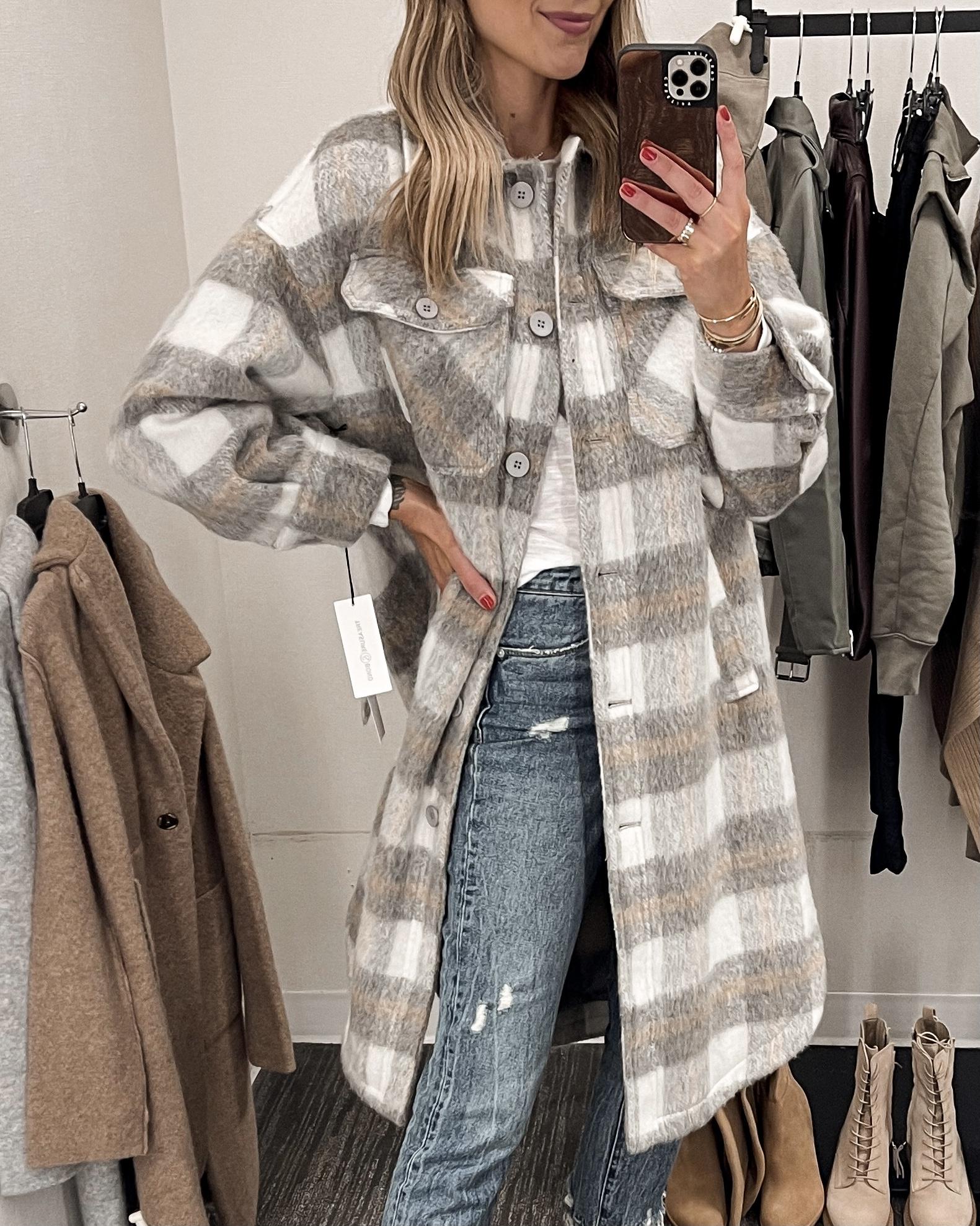 Fashion Jackson Nordstrom Anniversary Sale Long Plaid Jacket 2