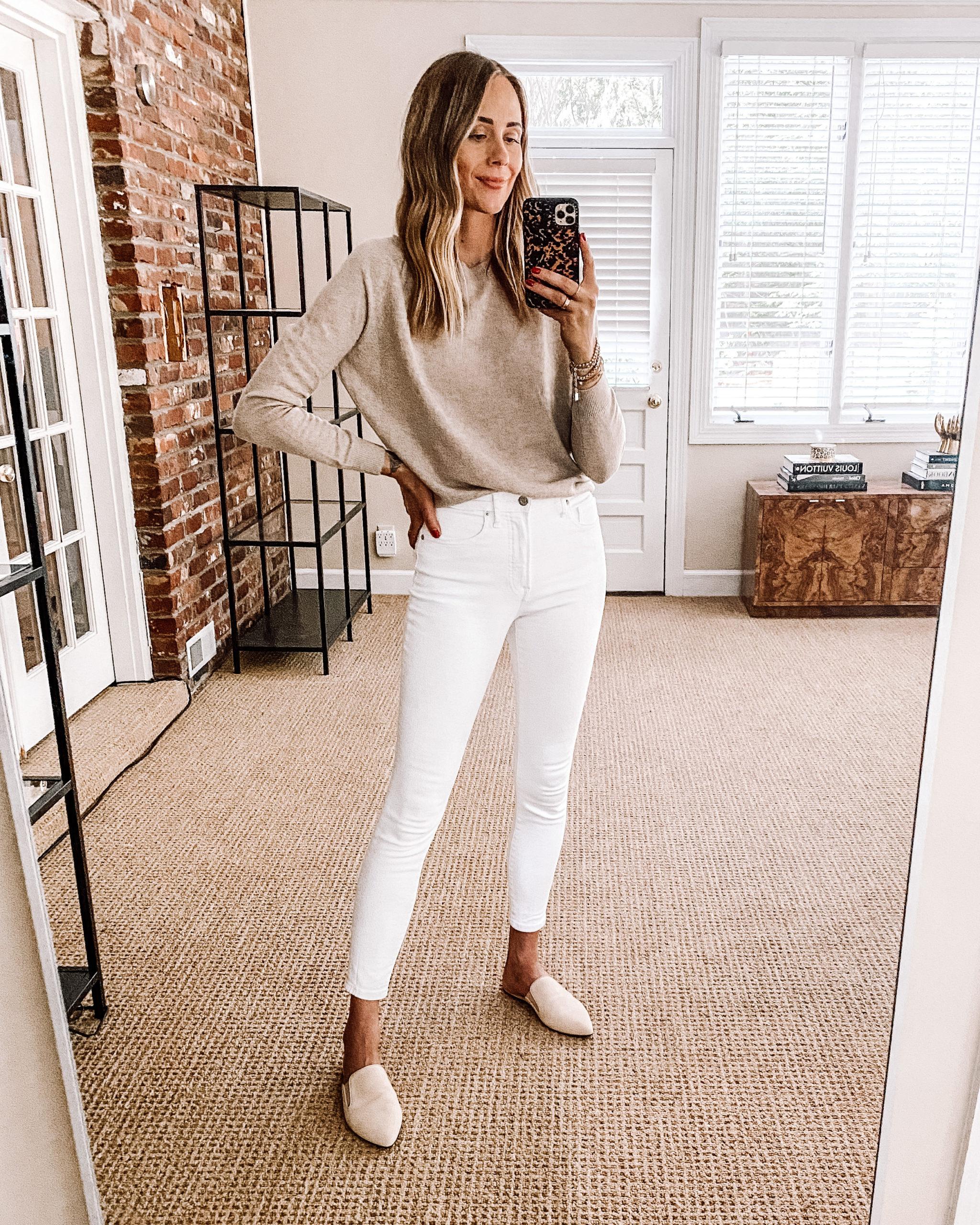 Fashion Jackson Nordstrom Anniversary Sale Vince Cashmere Sweater White Jean