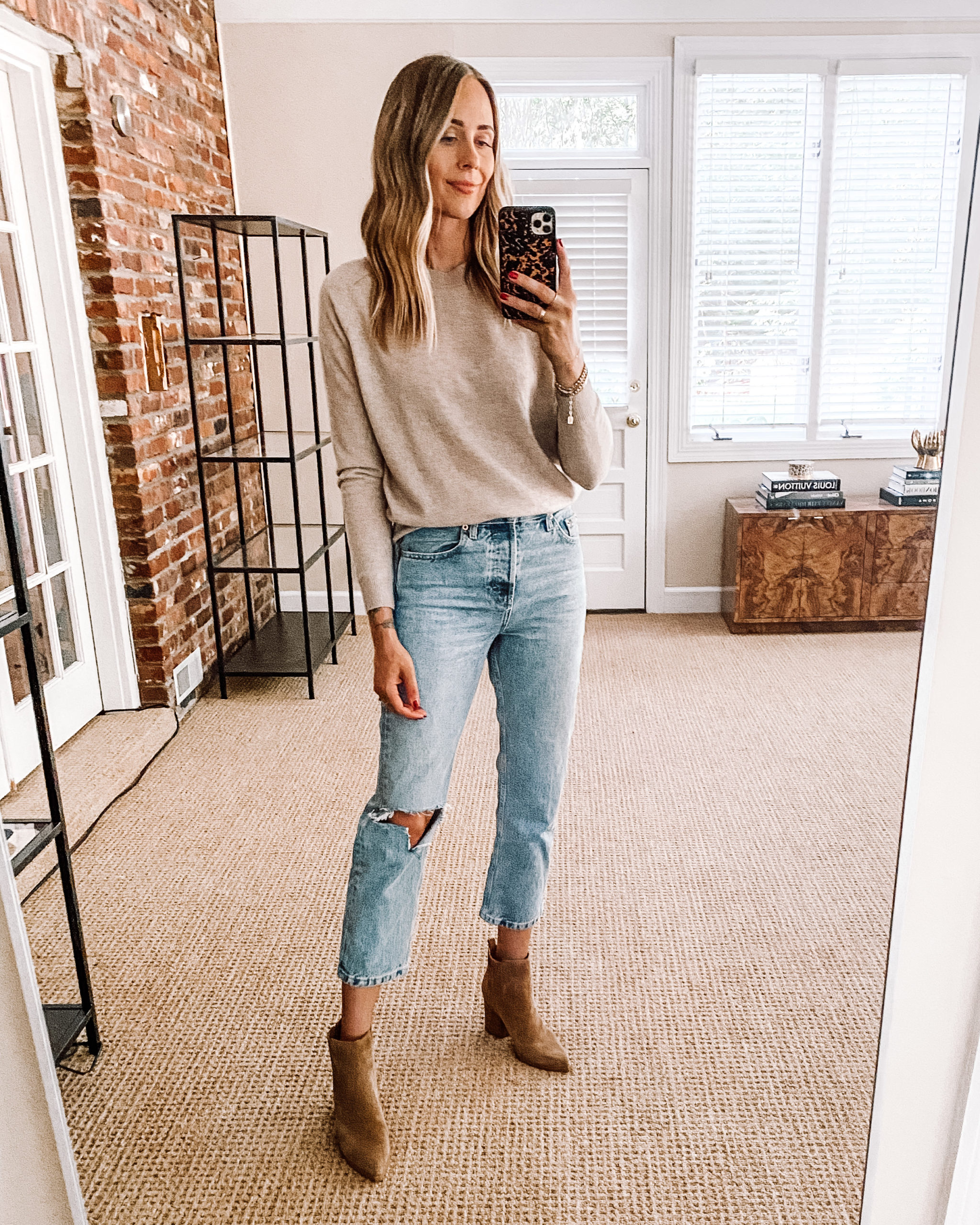 Fashion Jackson Nordstrom Anniversary Sale Vince Cashmere Sweater Jeans Booties