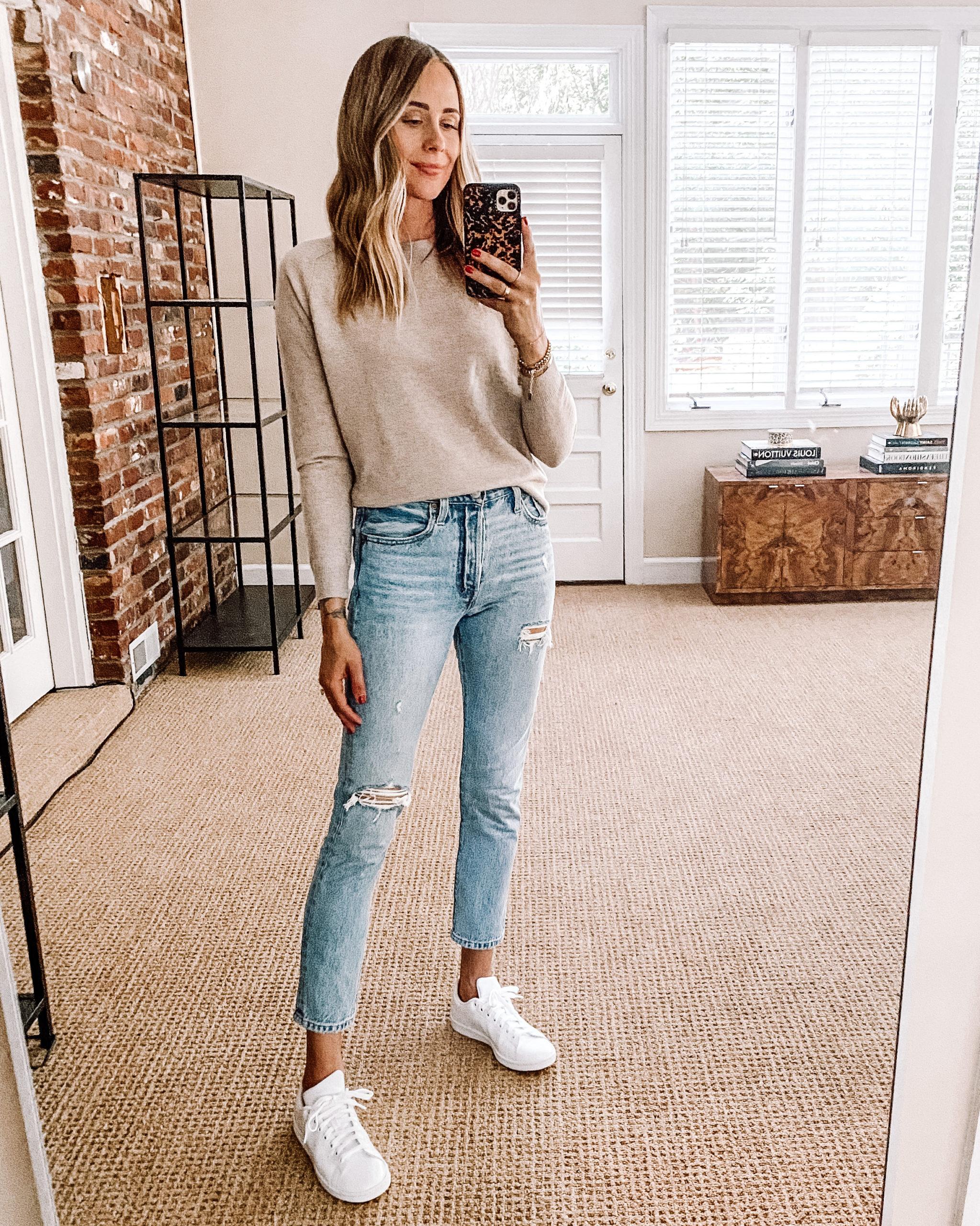 Fashion Jackson Nordstrom Anniversary Sale Vince Cashmere Sweater Jeans