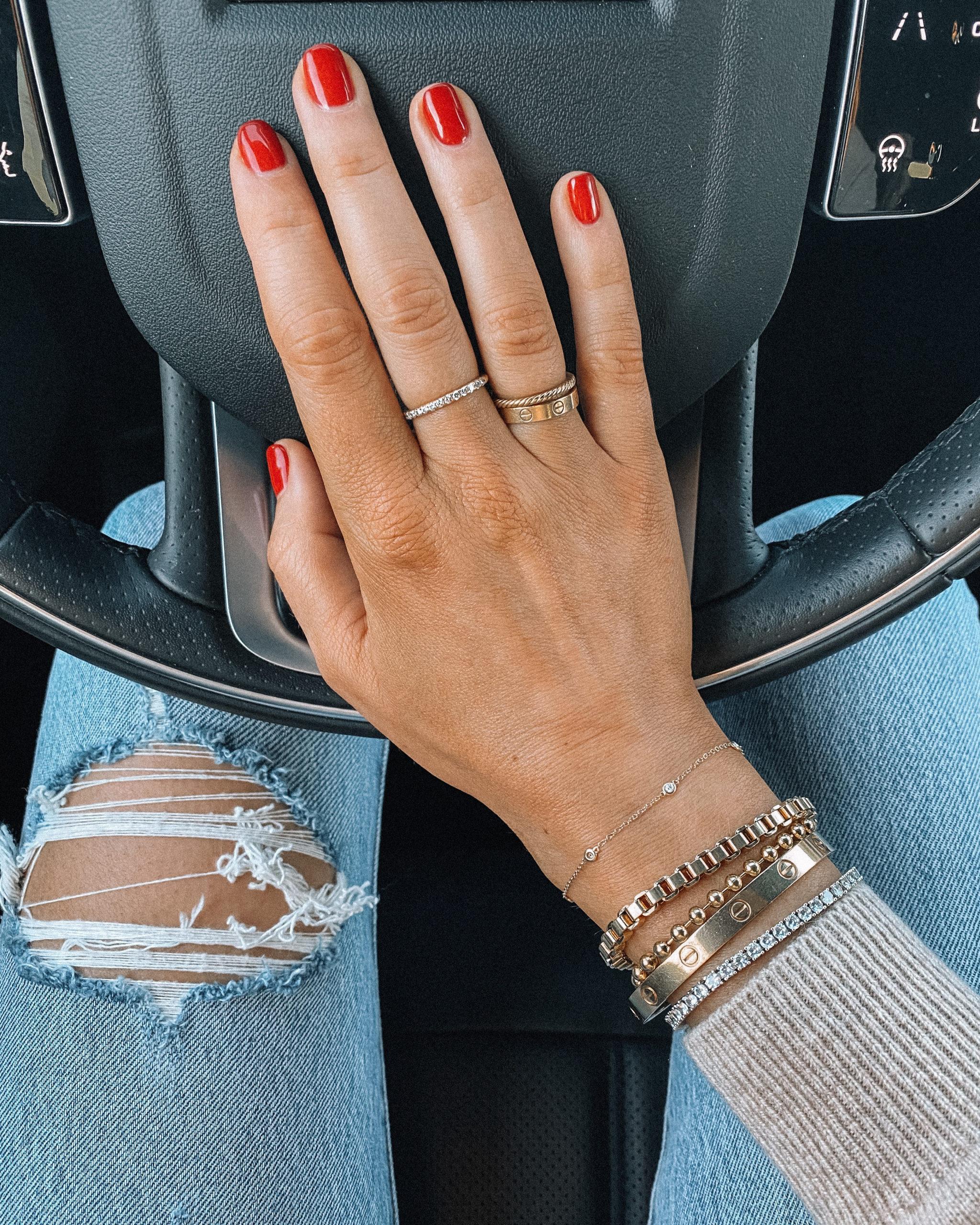 Fashion Jackson Miranda Frye Jewelry OPI Big Apple Red Nail Polish
