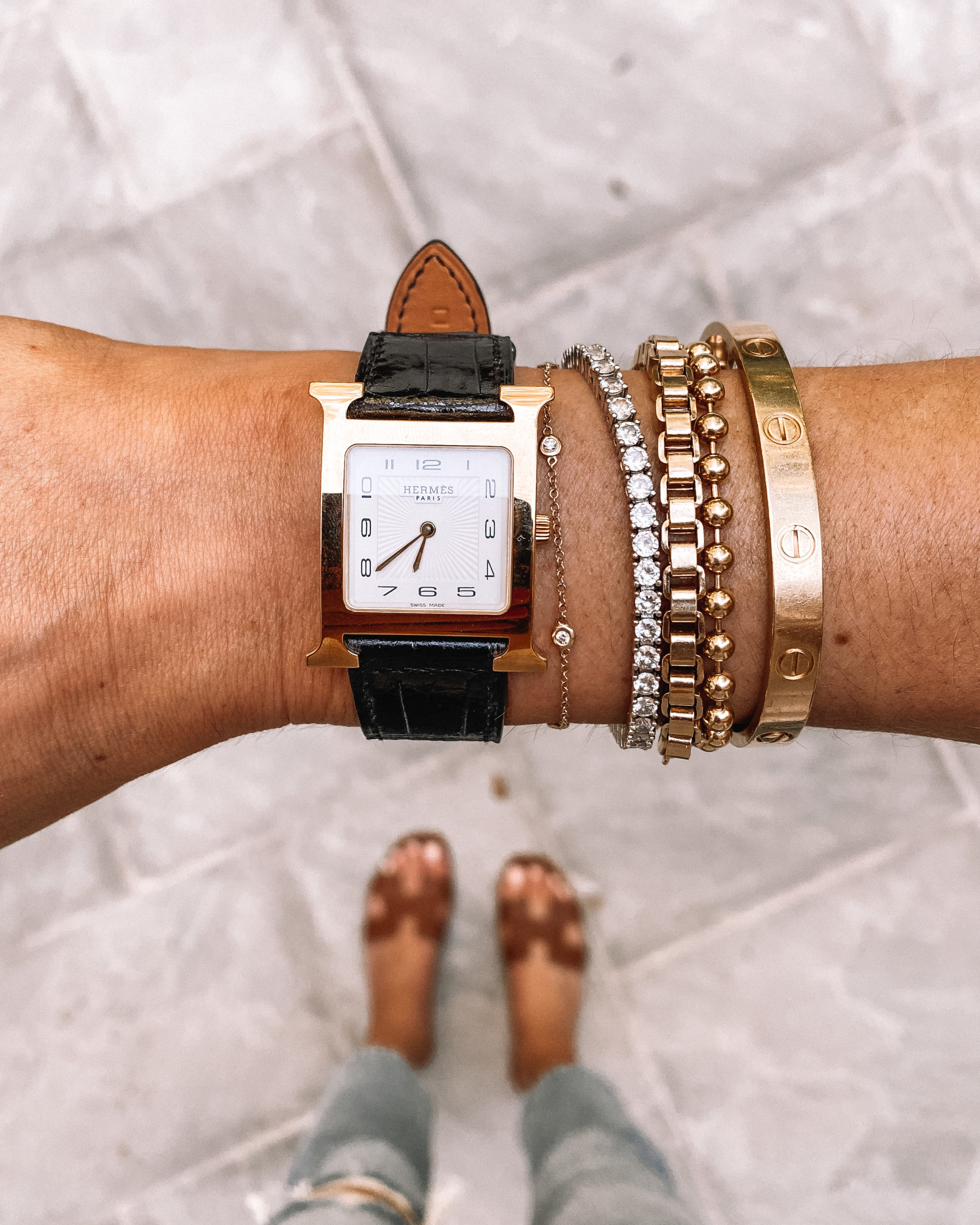 Fashion Jackson Vintage Hermes Watch Miranda Frye Bracelets Cartier Love Bracelet