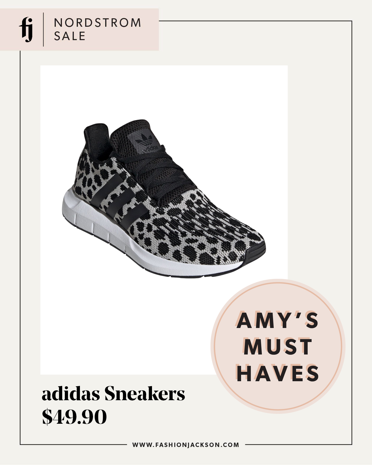 fashion jackson nordstrom anniversary sale adidas swift run leopard sneakers