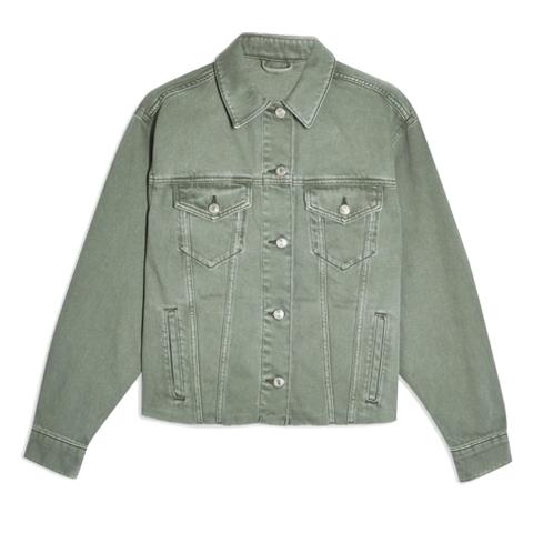 topshop green denim jacket