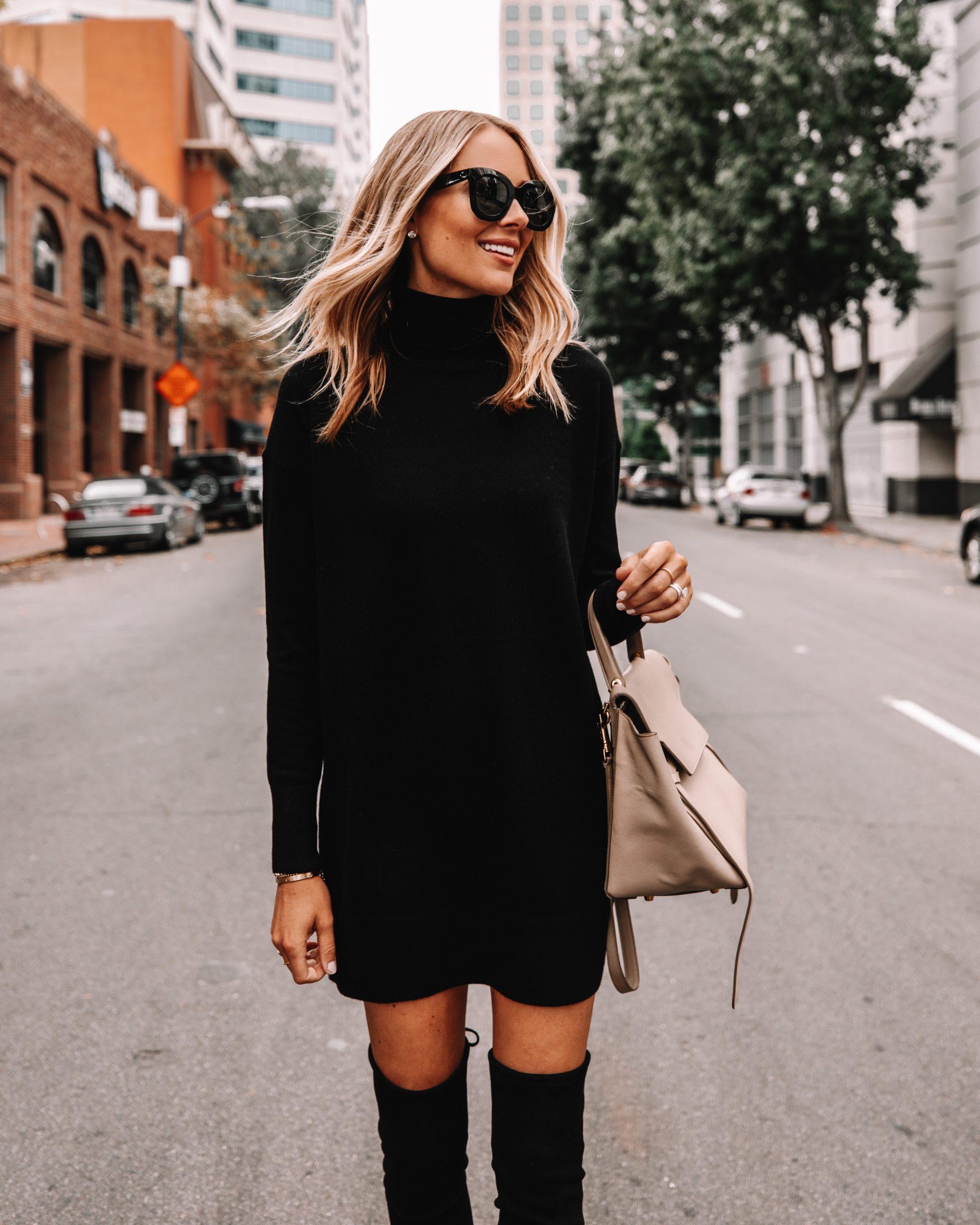 Fashion Jackson Everlane Black Sweater Dress