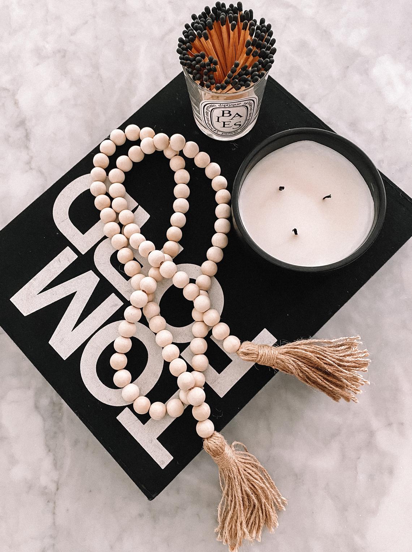 Fashion Jackson Amazon Finds Home Decor Wood Beads Coffee Table Book