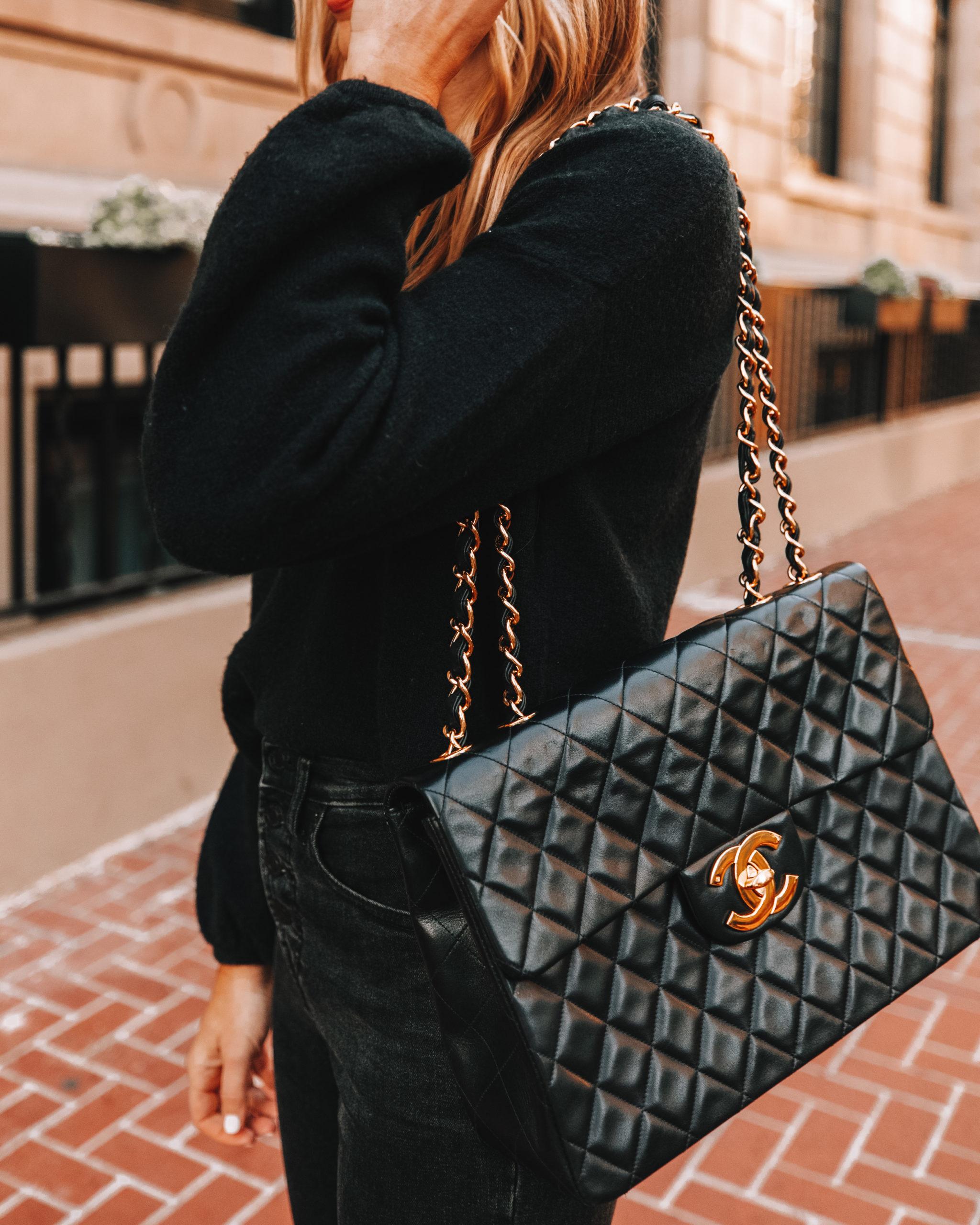 Fashion Jackson Chanel Jumbo Vintage Black Handbag