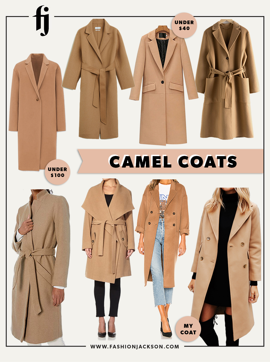 fashion jackson camel coats