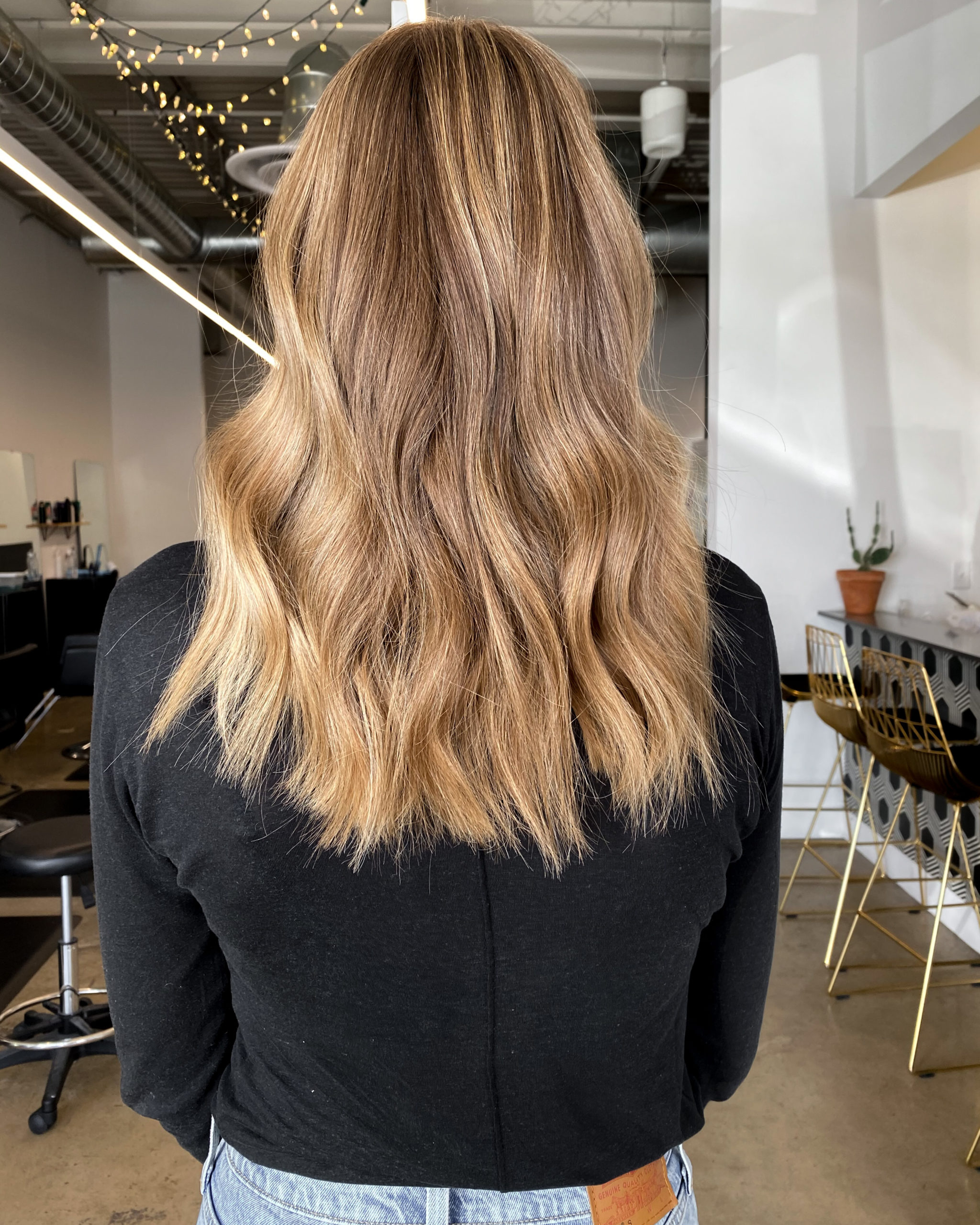 Fashion Jackson Long Bronde Hair Beachy Waves After Picture