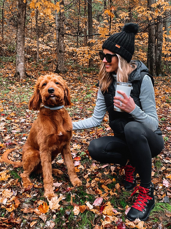 Fashion Jackson Wearing Fall Hiking Outfit
