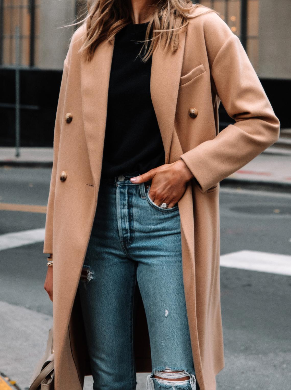 Fashion Jackson Wearing Topshop Camel Coat