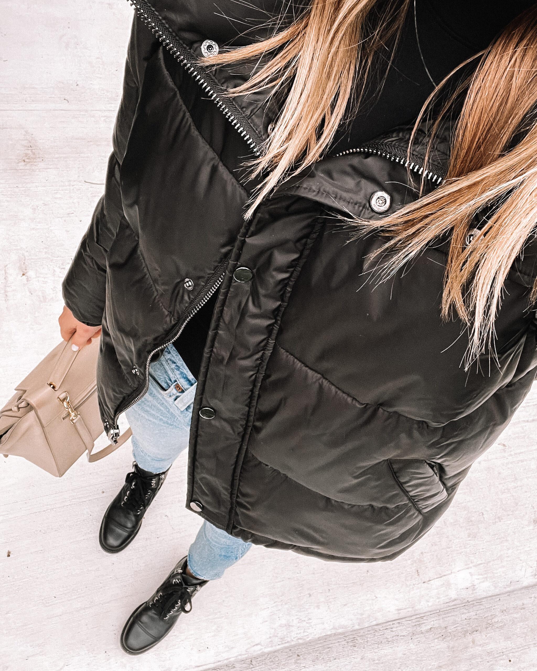 Fashion Jackson Wearing Amazon Fashion Black Puffer Jacket